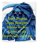 I Awoke From A Terrible Dream Fleece Blanket