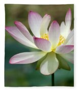 I Love Lotus Fleece Blanket