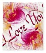 I Love You Card 1 Fleece Blanket