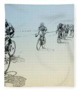 I Want To Ride My Bicycle Fleece Blanket