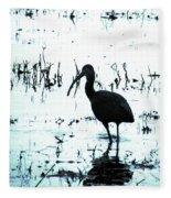 Ibis By Pintail Nature Drive Cameron Prairie Nwr La Fleece Blanket