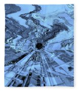 Ice Blue - Abstract Art Fleece Blanket