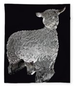 Ice Cold Lamb Carved In Ice Fleece Blanket