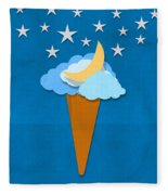 Ice Cream Design On Hand Made Paper Fleece Blanket