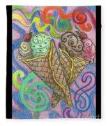 Ice Cream Fleece Blanket