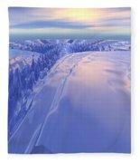 Ice Fissure Fleece Blanket