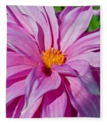 Ice Pink Dahlia Fleece Blanket