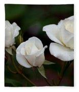 Iceberg Roses Fleece Blanket