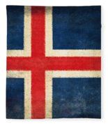 Iceland Flag Fleece Blanket