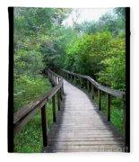 Ichetucknee Forest Pathway Fleece Blanket