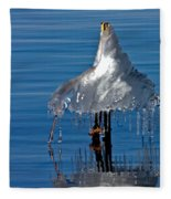 Icy Blue Twist Fleece Blanket