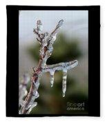 Icy Branch-7529 Fleece Blanket