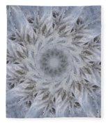 Icy Mandala 2 Fleece Blanket