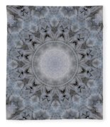Icy Mandala 4 Fleece Blanket