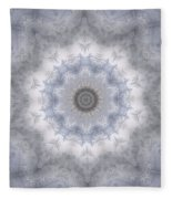 Icy Mandala 5 Fleece Blanket