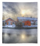 Icy River Panorama Fleece Blanket