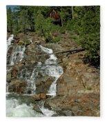 Icy Water Falls Glen Alpine Falls Fleece Blanket