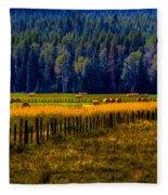 Idaho Hay Bales  Fleece Blanket