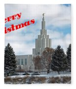 If Temple Christmsa Card 1 Fleece Blanket