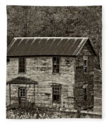 If These Walls Could Talk Sepia Fleece Blanket