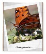 If You Need Me - Butterfly Fleece Blanket