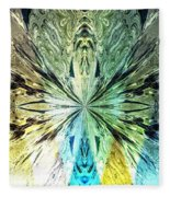 Illumination Of The Glass Butterfly Fleece Blanket