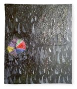 Illusion Of Black Rain Fleece Blanket