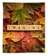 Imagine-autumn Fleece Blanket
