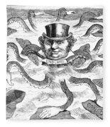 Imperialism Cartoon - To License For Professional Use Visit Granger.com Fleece Blanket