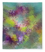 Impressionistic Abstract Fleece Blanket