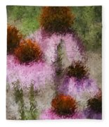 Impressionistic Cones Fleece Blanket