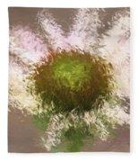 Impressionistic Echinacea Fleece Blanket