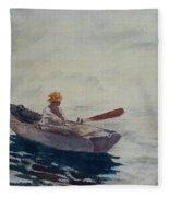In A Boat Fleece Blanket