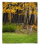 In A Yellow Wood Painted Fleece Blanket