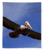 In Flight Pelican Fleece Blanket