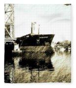 In Portsmouth Harbor Fleece Blanket