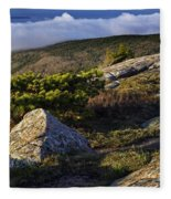 In The Clouds At Cadillac Fleece Blanket