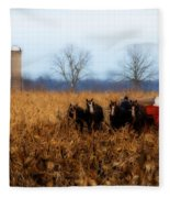 In The Corn 1 Fleece Blanket