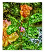 In The Garden Of Dreams Fleece Blanket