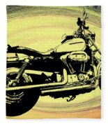 In The Vortex - Harley Davidson Fleece Blanket