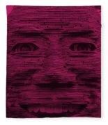 In Your Face In Hot Pink Fleece Blanket