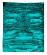 In Your Face In Neagtive Turquois Fleece Blanket