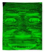 In Your Face In Negative Green Fleece Blanket