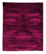 In Your Face In Negative  Hot Pink Fleece Blanket