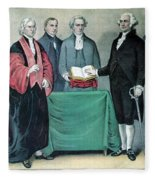 Inauguration Of George Washington, 1789 Fleece Blanket