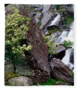 Inchquinn Waterfall, Beara Peninsula Fleece Blanket