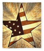 Independence Day Stary American Flag Fleece Blanket