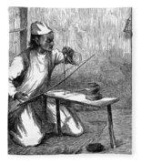 India: Pearl Borer, 1876 Fleece Blanket