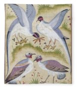 India: Pheasants Fleece Blanket