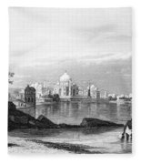 India: Taj Mahal, C1860 Fleece Blanket